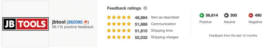 JB Tools Reviews eBay Reviews