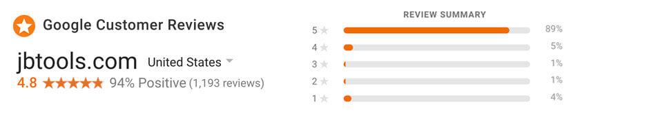JB Tools Reviews Google Shopping Reviews