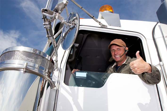 truck driver thumbs up